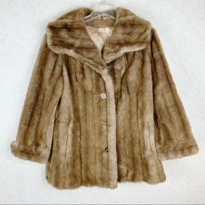VTG Career Originals Tissavel mink faux fur coat
